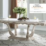 meja makan mewah french style   luxury french dinning table