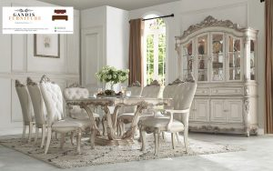 meja makan mewah french style | luxury french dinning table
