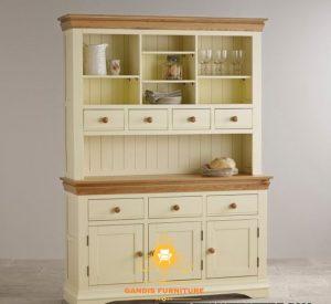 lemari dapur minimalis putih klasik