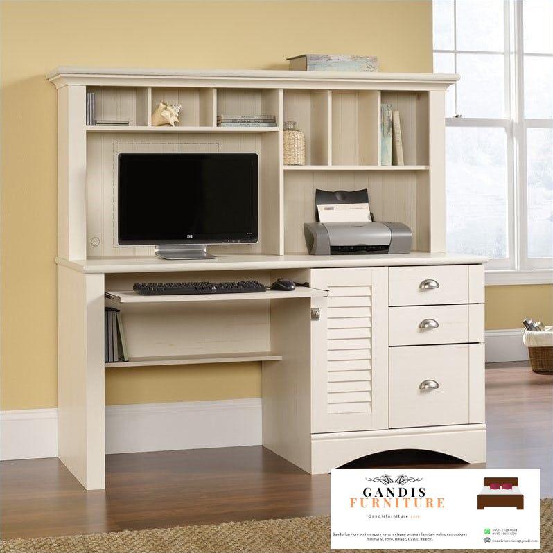 meja kantor minimalis warna putih
