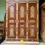 lemari pakaian minimalis kayu asli jepara