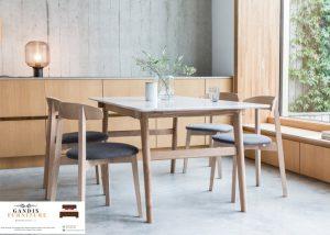 meja makan marmer minimalis kayu jati