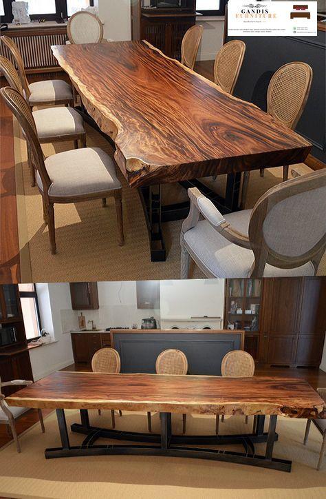 meja makan trembesi kayu tebal solid