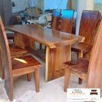 meja trembesi minimalis kayu solid murah
