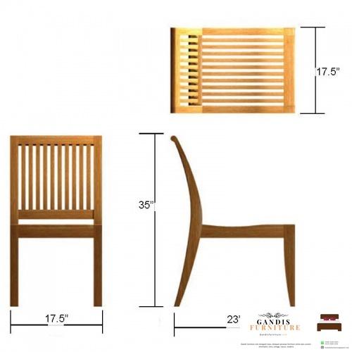 ukuran kursi cafe kayu jati jepara murah