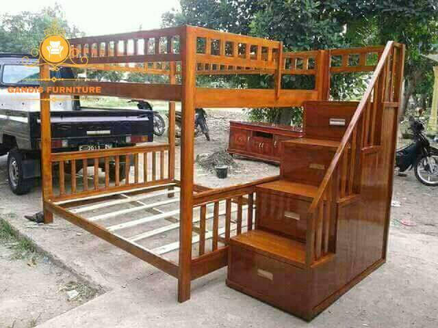 tempat tidur tingkat murah kayu