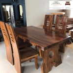 wooden dining table | suar wood dining table