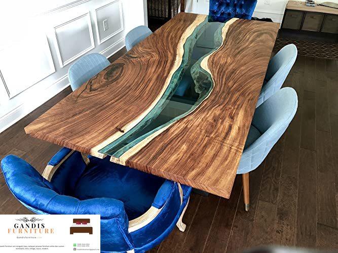 set meja resin biru