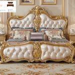 tempat tidur mewah kayu jati jepara ukiran klasik