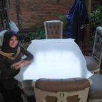 meja makan mewah ukiran jepara warna putih