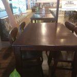 set meja makan minimalis model kursi cafe jepara