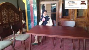 meja makan model kursi cafe jepara