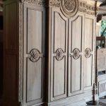 lemari pakaian kayu jati ukiran jepara ( barang ready mentahan)