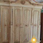 (ready mentahan )lemari pakaian 4 pintu kayu jati ukiran klasik jepara