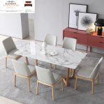 model meja makan marmer minimalis terbaru