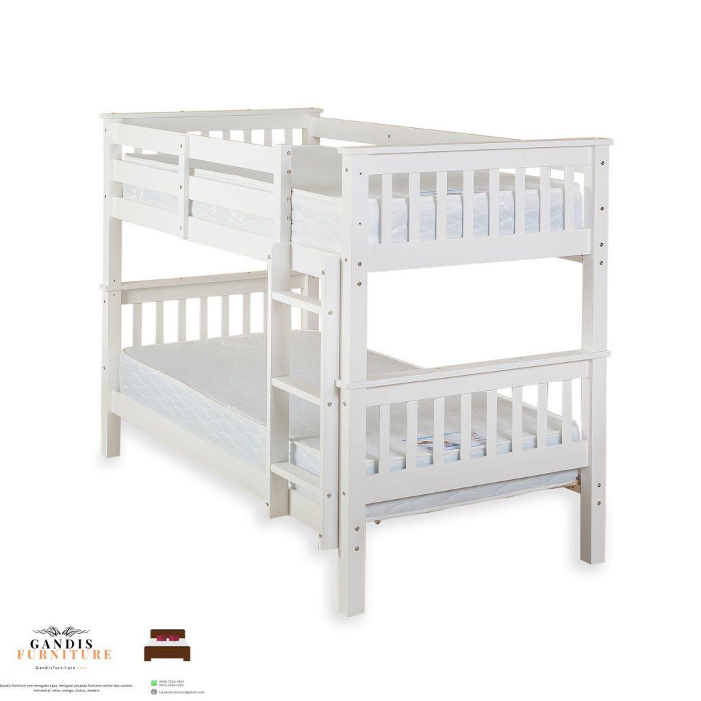 tempat tidur tingkat kayu murah