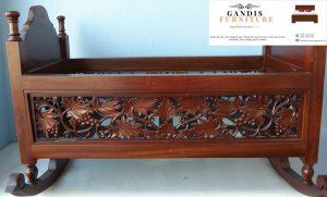 tempat tidur bayi murah dari kayu jati