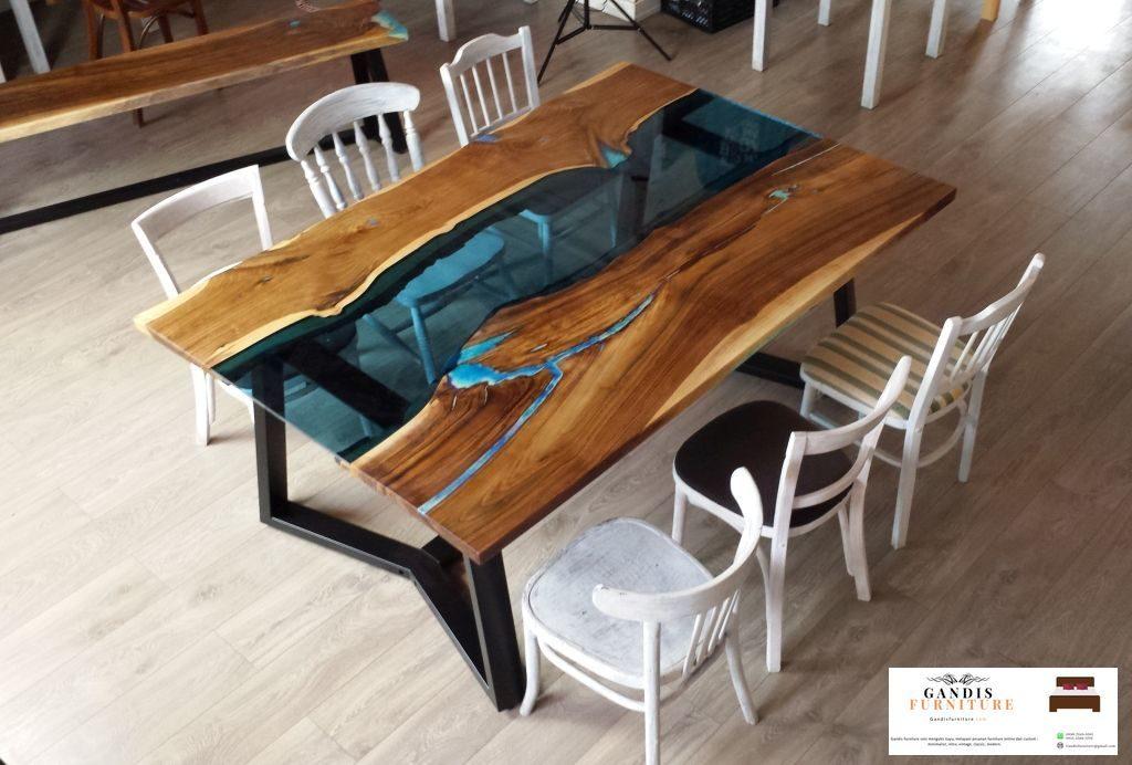 set meja makan resin