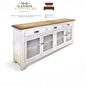 lemari dapur minimalis putih kayu jati murah