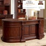meja kantor minimalis direktur kayu jati solid