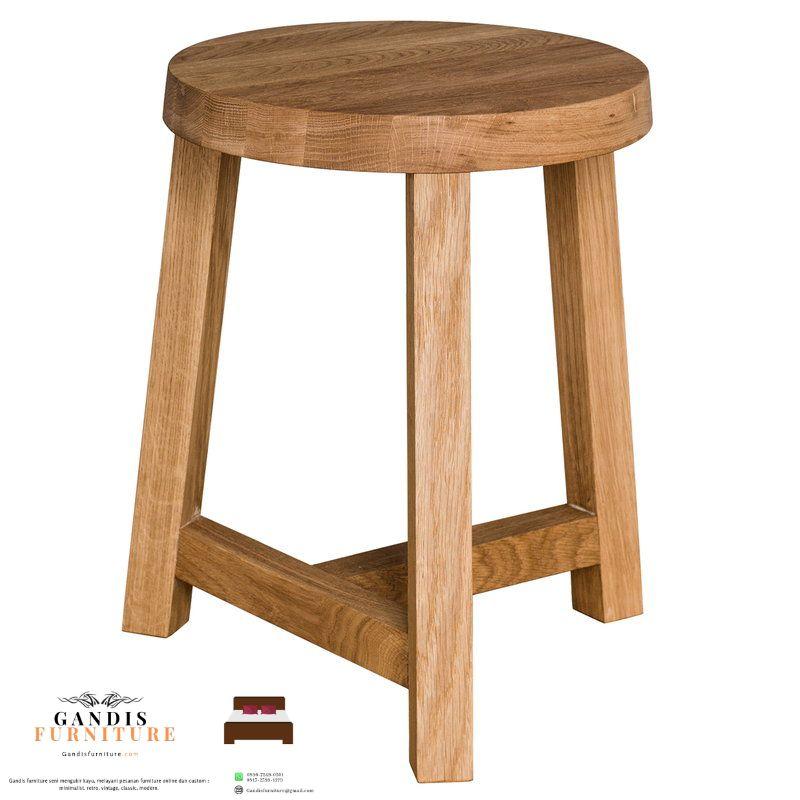 stool cafe kayu bulat