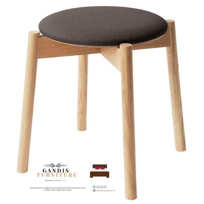 stool cafe kayu jati murah