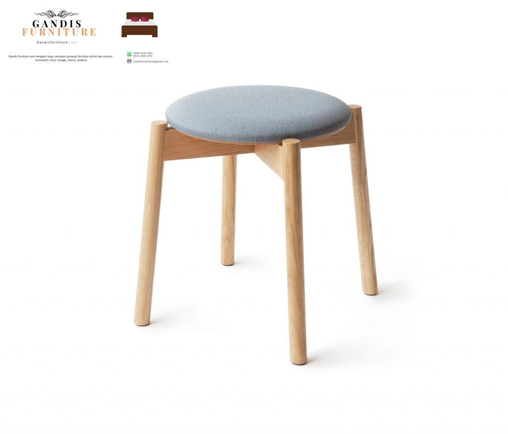 stool cafe kayu jati