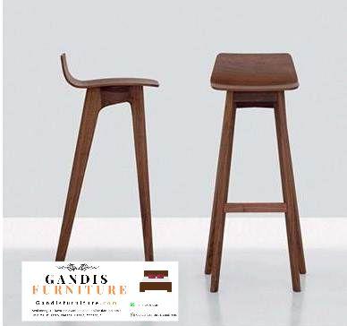 kursi bar kayu minimalis