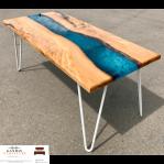meja resin kayu minimalis