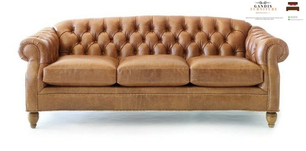 modern sofa coklat terang