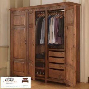 lemari pakaian murah minimalis kayu jati