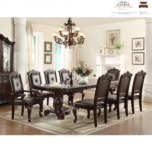 set meja makan kursi 8 mewah