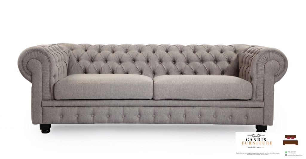 sofa chesterfield light grey