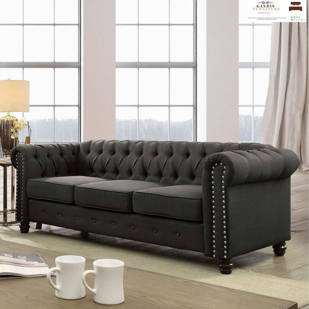 sofa modern mewah chesterfield
