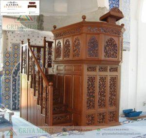 mimbar masjid ukir jepara kayu jati