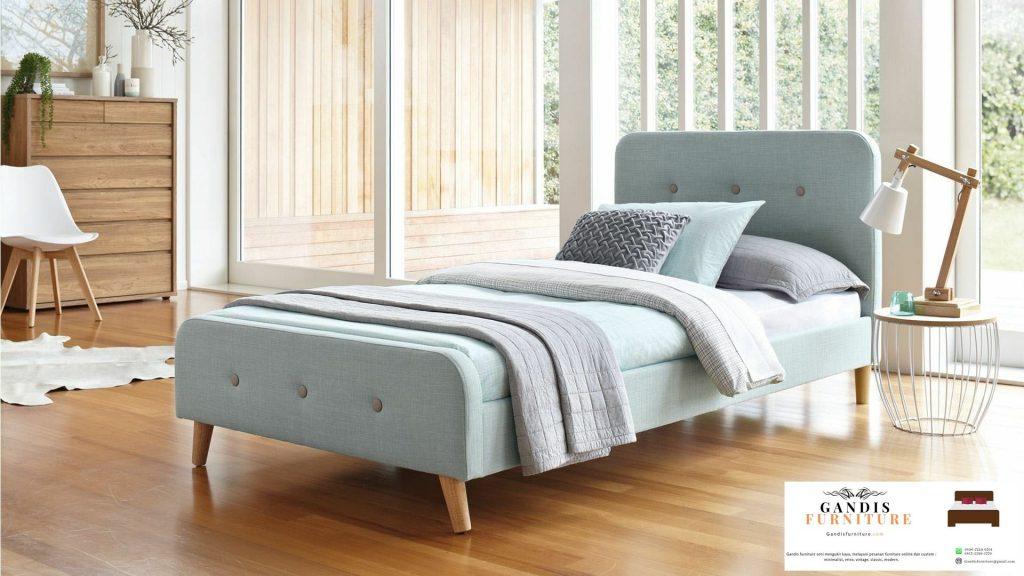 tempat tidur minimalis kain murah