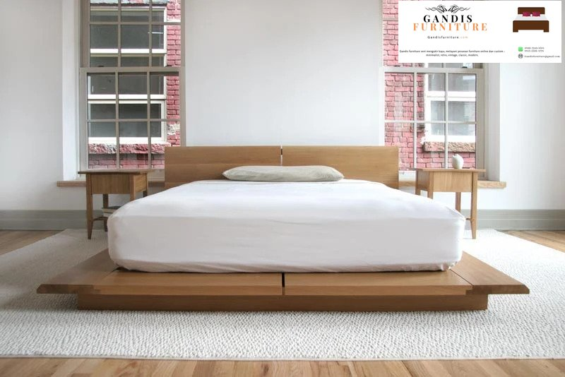 tempat tidur lantai jepang