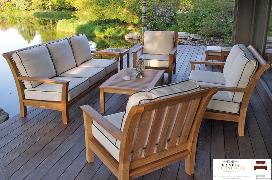 kursi outdoor kayu jati