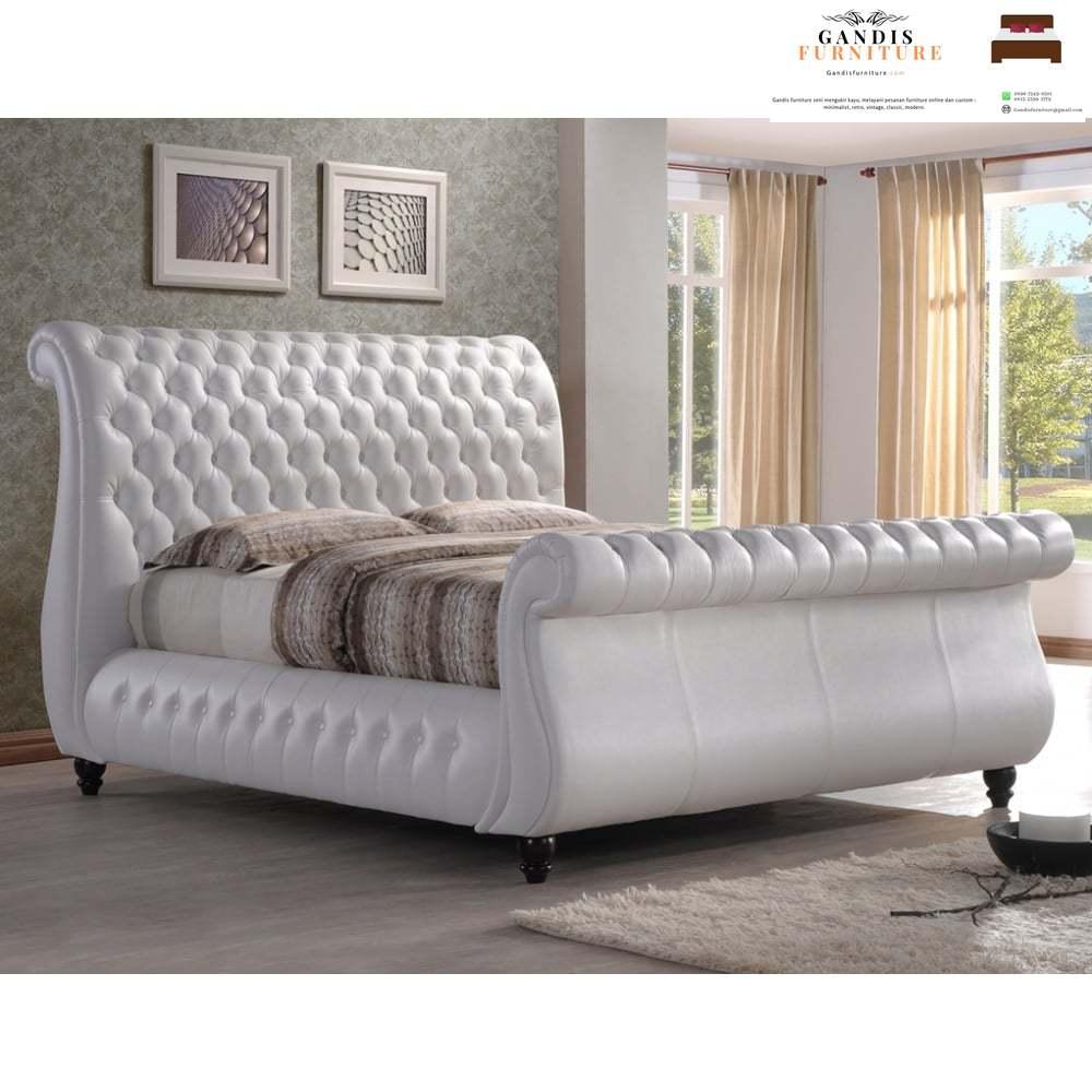 tempat tidur kain mewah elegan