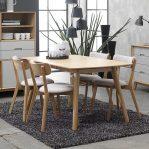 meja makan kayu jati 4 kursi minimalis