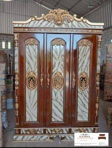 lemari pakaian 3 pintu rahwana kayu jati