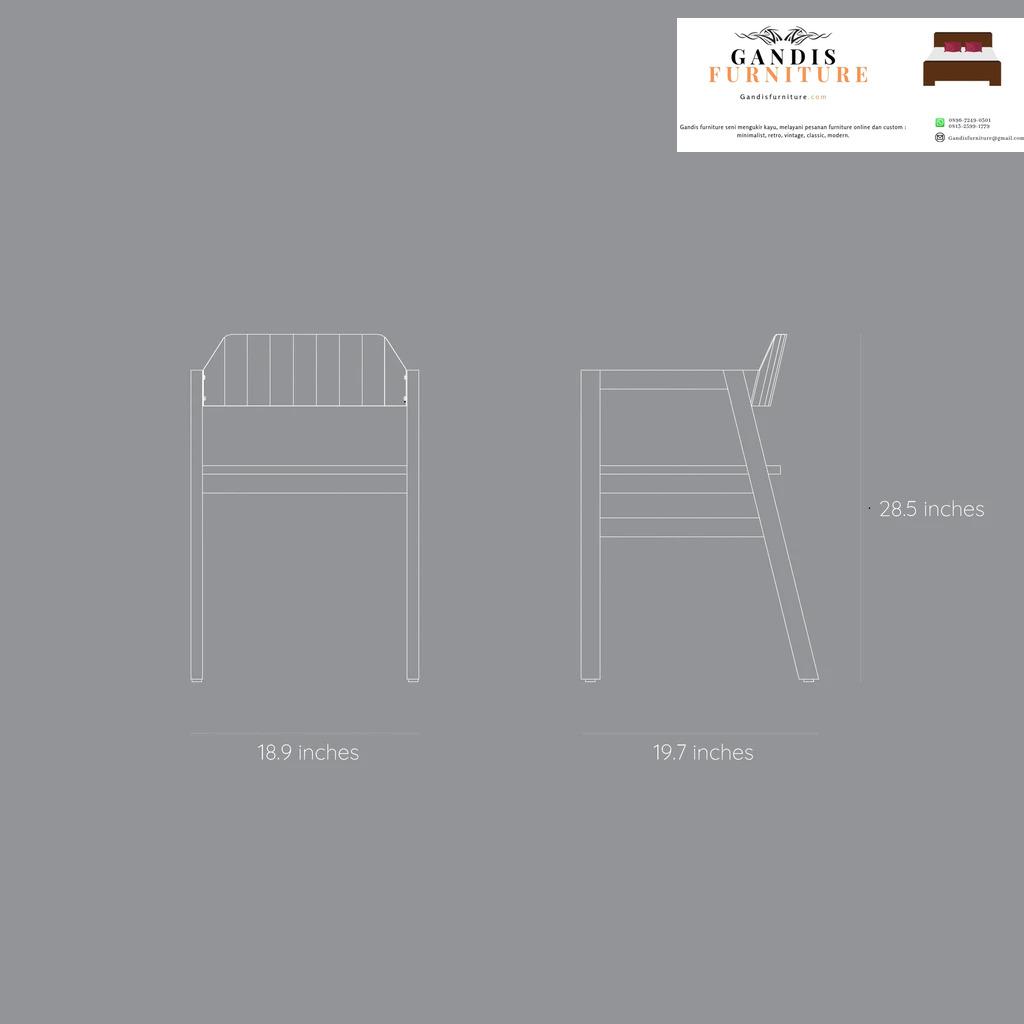 ukuran kursi cafe