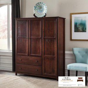 lemari pakaian 3 pintu kayu jepara