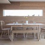 meja makan kayu jati perhutani minimalis