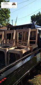 rangka kursi menggunakan kayu jati berkualitas