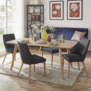 meja makan kayu jati jakarta modern