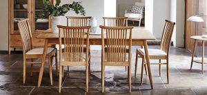 set meja makan kayu jati modern