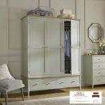lemari pakaian 3 pintu putih duco