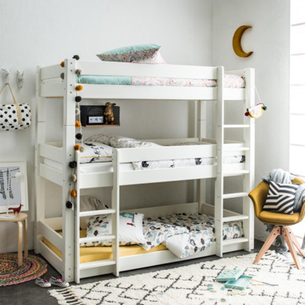 ranjang tingkat putih minimalis