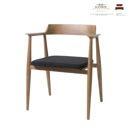 kursi cafe kayu model hiroshima